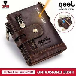 2020 Genuine Leather Men Wallet Coin Purse Small Mini Card H