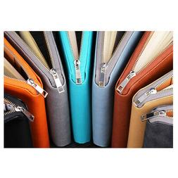 A6 Zipped PU Leather Conference Folder Business Document Cas