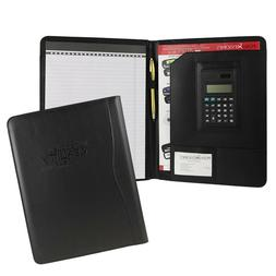 Black Business Leather Padfolio Portfolio Calculator Organiz