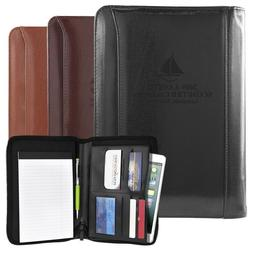 Business Leather Padfolio Portfolio Folder Organizer Resume