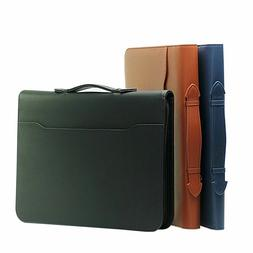 business office manager bags pu leather file