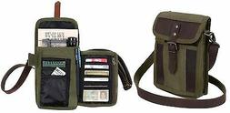 Rothco Canvas Tourist Travel Portfolio Shoulder Bag With Lea
