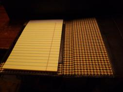 Cutter and Buck brown leather writing portfolio with Bloombe