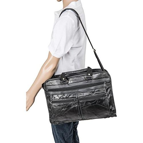 Maxam Genuine Briefcase features outside pockets both sides BCLBC