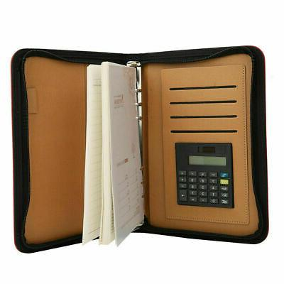 leather document file folder a5 business conference