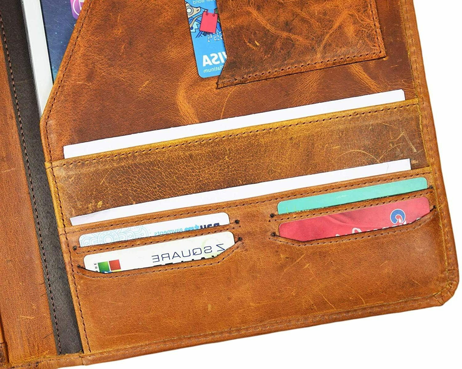 Leather Professional Organizer Tablet Holder A424