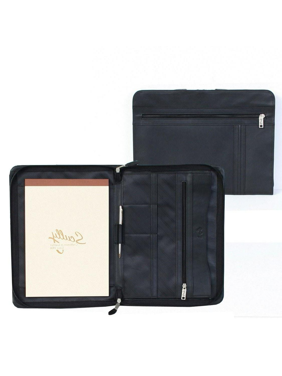 new scully leather zip letter writing pad