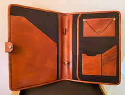 Time Resistance Mens Leather Portfolio Italian Leather  Pers