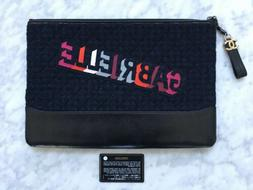 NEW CHANEL GABRIELLE QUILTED TWEED LEATHER O CASE PORTFOLIO