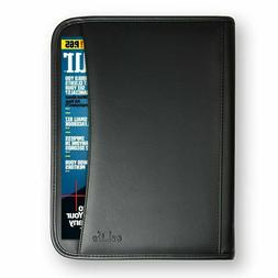 Padfolio Business Leather Portfolio Zippered Notebook Binder