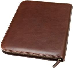 Maruse Personalized Italian Leather Executive Portfolio Padf