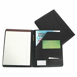 Royce Leather Portfolio Padfolio, with Inserted Note Pad and