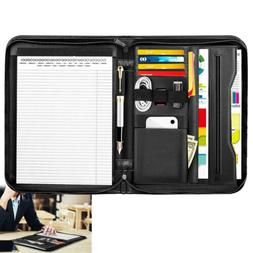 MoKo Professional Business Leather Resume Organizer Padfolio