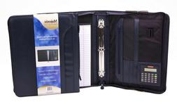 Majestic Goods Stylish Leather Blue Executive Portfolio 10pc
