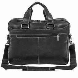 """Kenneth Cole Top Zip 15.6"""" Laptop Leather Briefcase Messen"""
