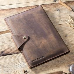 Vintage Leather Portfolio Cover Carrybag Sleeve For iPad Air